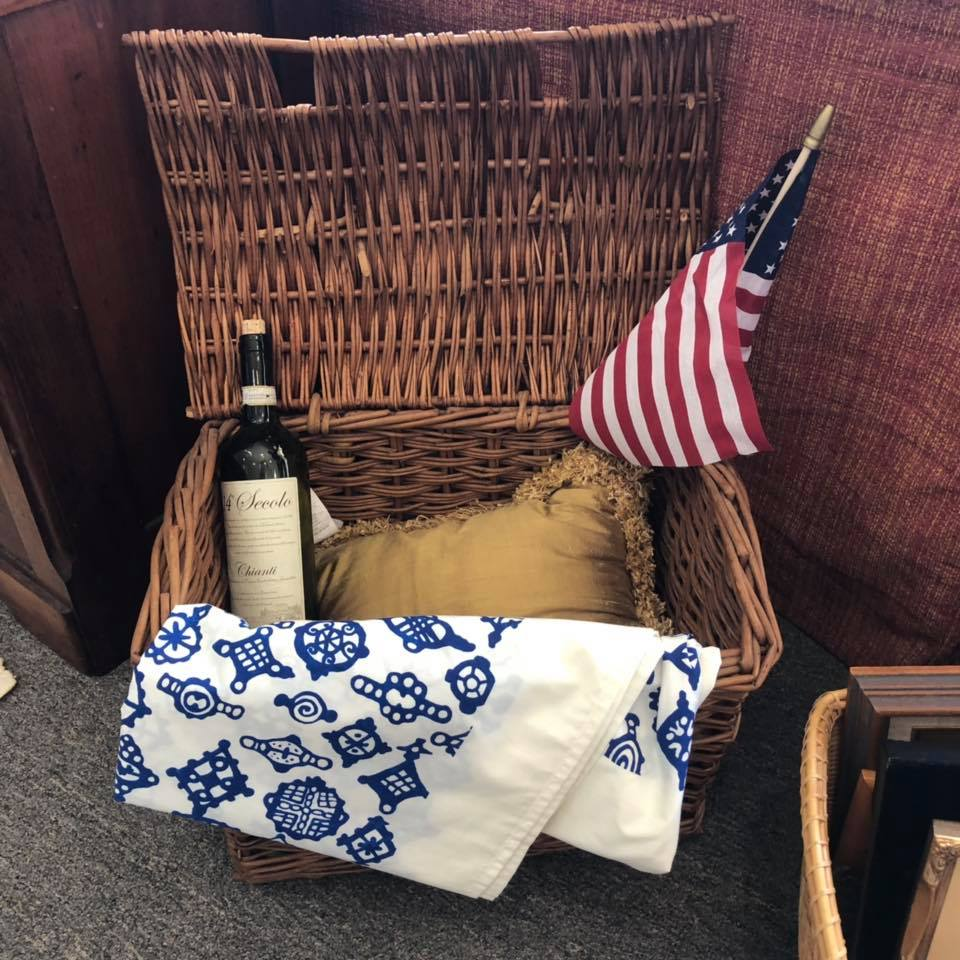 This Picnic basket is for sale!